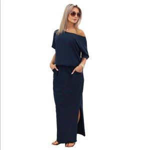 Emma Side Slit Maxi W/ Front Pockets NWT
